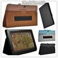 Cubierta de cuero del soporte para google nexus 10 nexus 10 pulgadas caja de la tableta con el sostenedor de la mano + protectores de pantalla