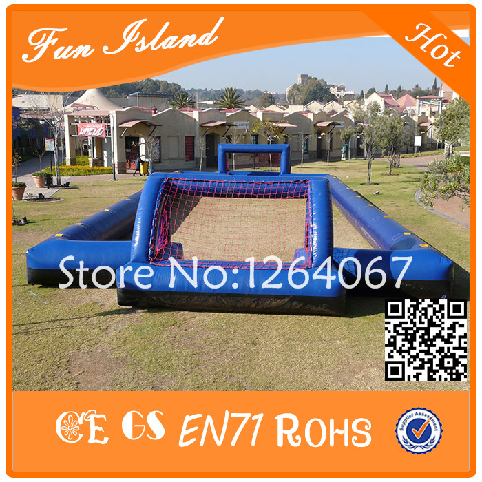 Free Shipping Inflatable Sport Games Inflatable Soccer Field, Inflatable Football Field inflatable football field shooting soccer goal kicking gate game l6mxh3m for children kids party sport games toy