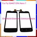 Um Mundo 1 pçs/lote Frente Lente de Vidro Painel Para Fly IQ4407 era nano 7 do painel de toque sensor de hd touchscreen digitador livre grátis
