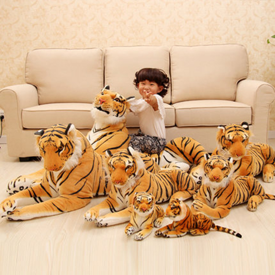 Simulation Tiger Stuffed Animal Plush Toy Pluche Stuffe Speelgoed Tiger Stuffed Toys Lovely Simulation Animal Doll 70C0469 stuffed animal 110cm plush tiger toy about 43 inch simulation tiger doll great gift free shipping w018