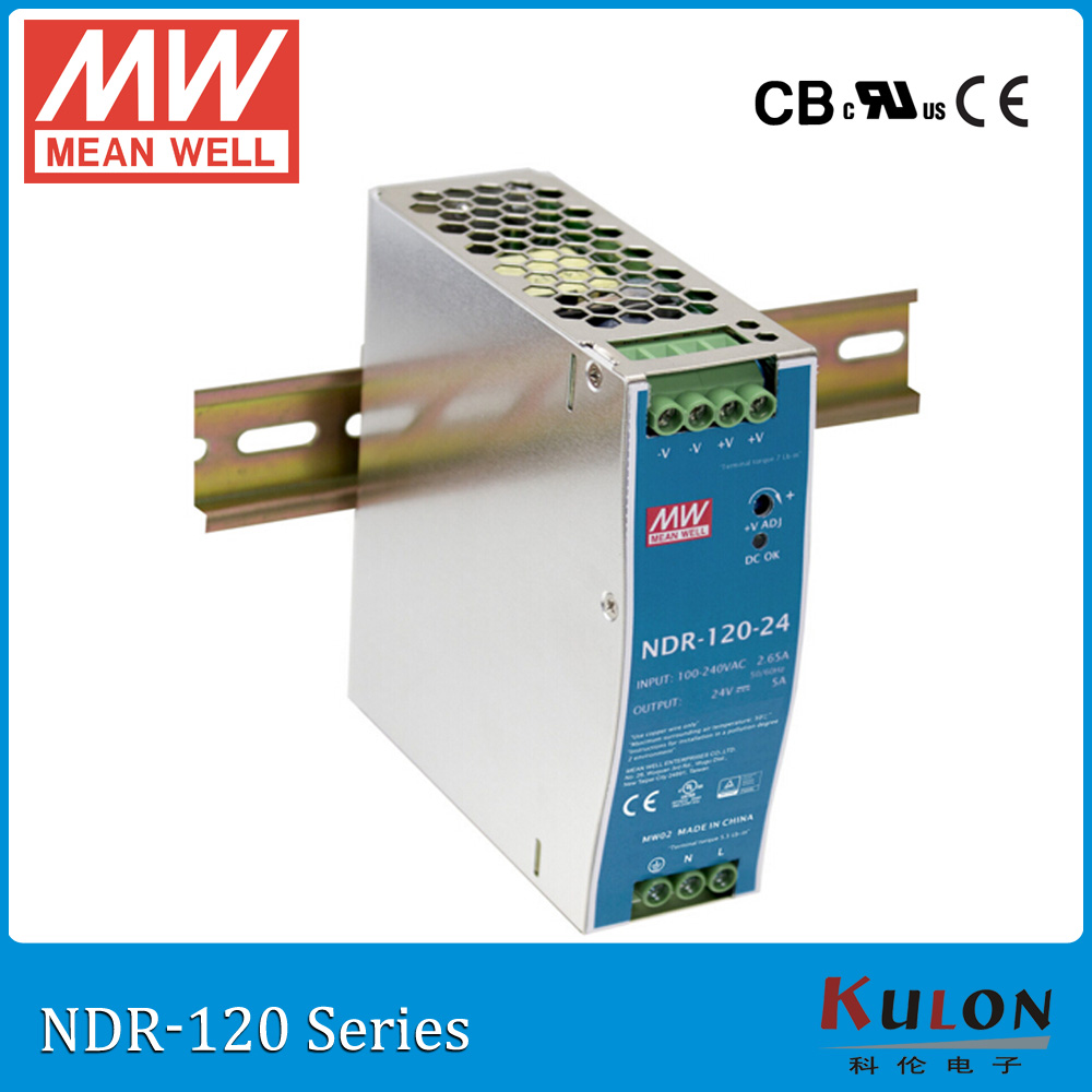 цена на Genuine MEAN WELL NDR-120-24 Single Output 120W 24V 5A Industrial DIN Rail Mounted Meanwell Power Supply