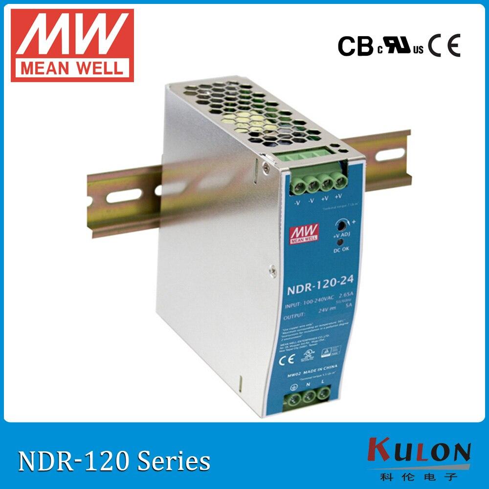 Genuine MEAN WELL NDR-120-24 Single Output 120W 24V 5A Industrial DIN Rail Mounted Meanwell Power Supply минипечь gefest пгэ 120 пгэ 120