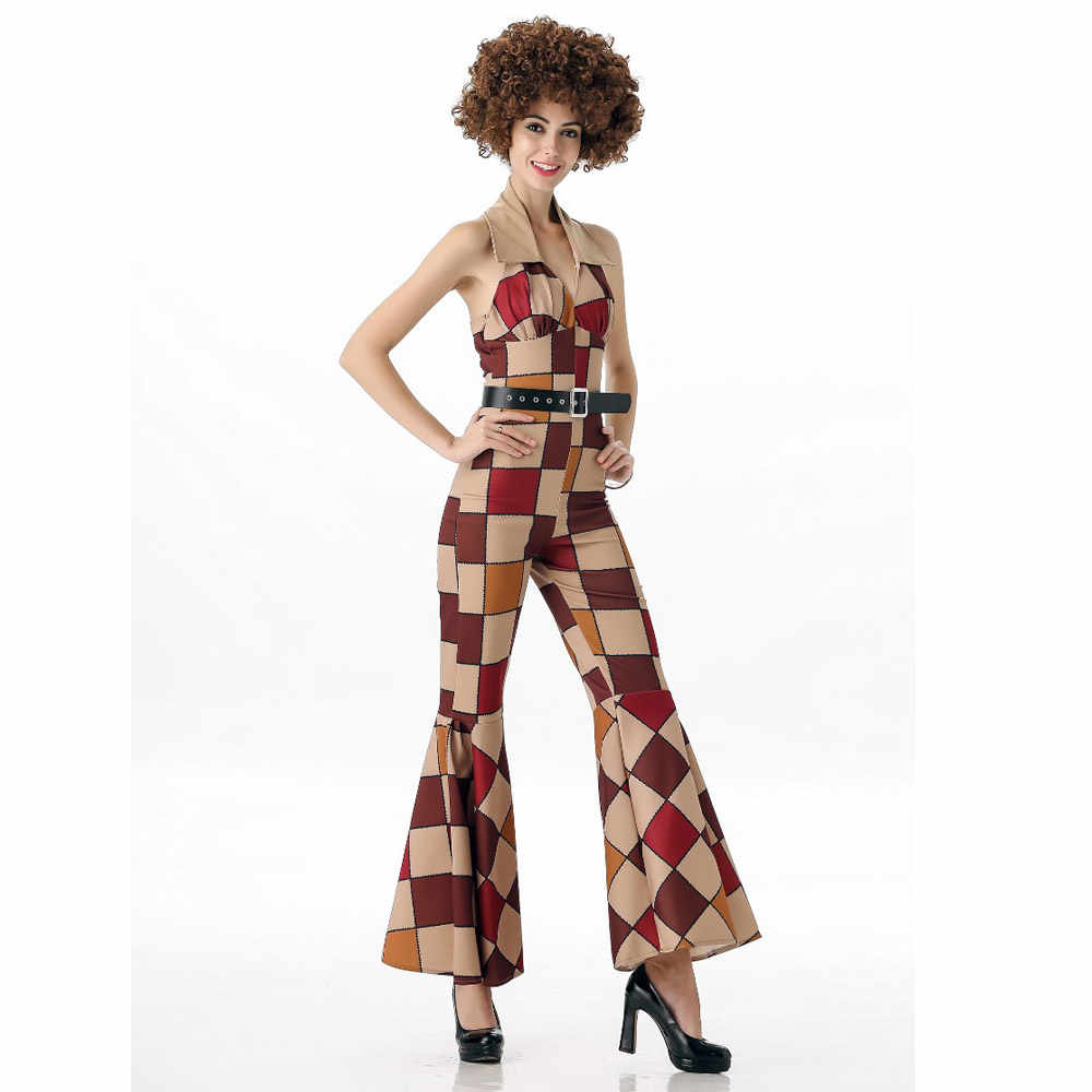ee0fbd6000 Free Shipping New Arrival Ladies 60s 70s Retro Hippie Go Go Girl Disco  Costume Hens Party Fancy Dress