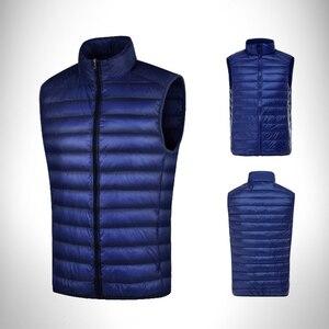 Image 3 - Pgm Golf Kleidung Männer Unten Jacke Mantel Doppel Unten Weste Männlichen Ärmelloses Golf Warme Winddicht Weste Herbst Winter Bekleidung D0512