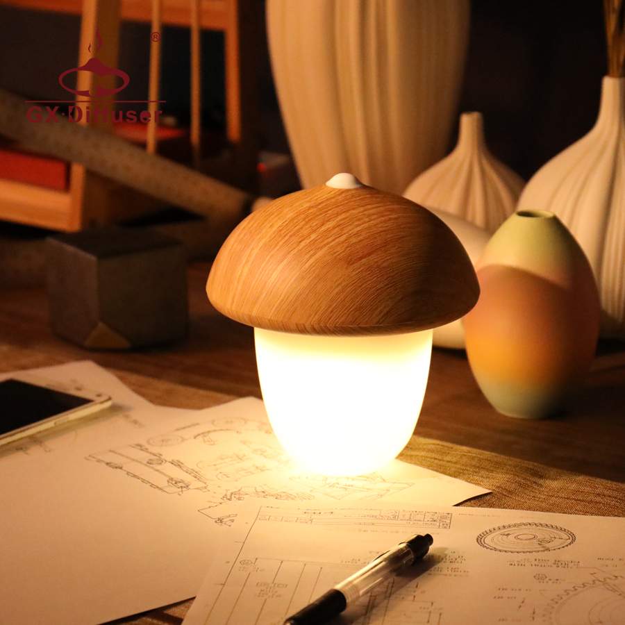 LED Night Light for Home Kids Mushroom Cute Creative Sleeping Nightlight Desk Lamp Decoration Mini Warm For Bedroom - 4