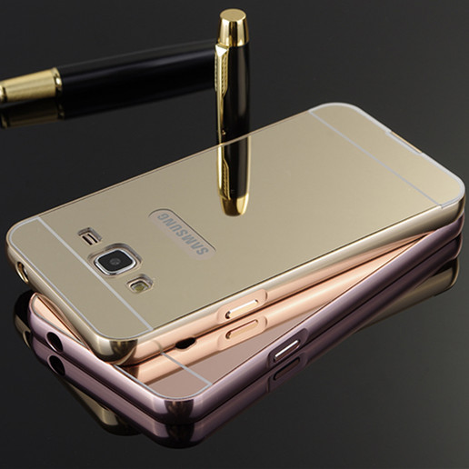 Luxury Gold Mirror Aluminum Case for Samsung Galaxy J1 J3 J5 J7 A3 A5 A7 2016 A510 A310  ...