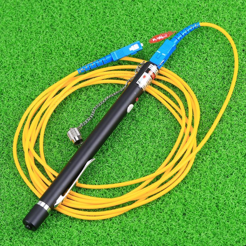 KELUSHI Cabo de fibra óptica VFL Red Laser Tester Pen Visual Fault - Equipamento de comunicação - Foto 3