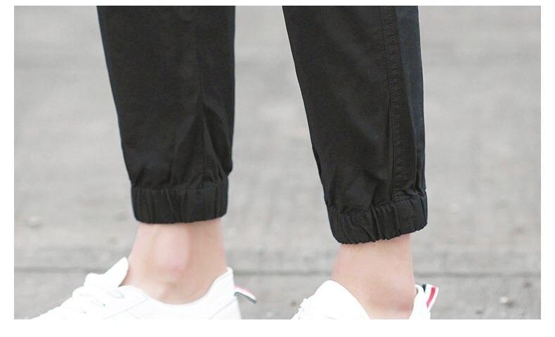 7XL Cargo Pants Men Quality Cotton Pencil Pants Male Washed Slim Fit Pants Mens Trousers Korean Brand MuLS Plus Size Casual Pant 17