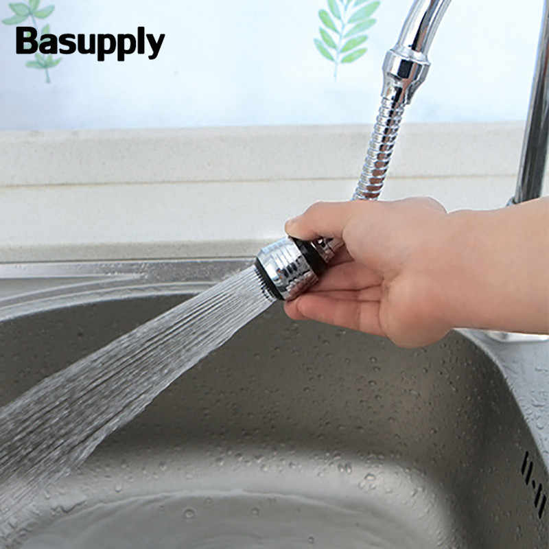 1 PC Fleksibel Tekan Bubbler 360 Berputar Aerator Air Nozzle Hemat Kran Filter Adaptor Kepala Semprot Dapur Mandi Faucet Extender