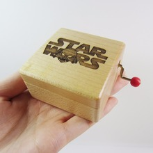 Wooden Star Wars music box special souvenir gift box, birthday gifts free shipping