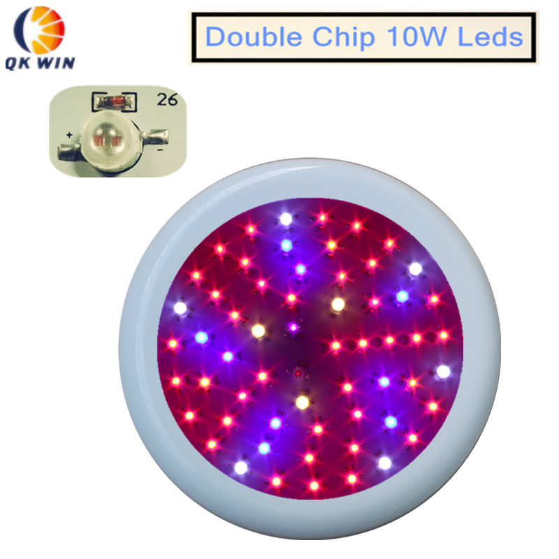 Qkwin super UFO 600W LED Grow Light double chip 60x10w Full Spectrum LED Grow Lights For Indoor Plants Flowering And Growing 4pcs 1 9 rubber tires