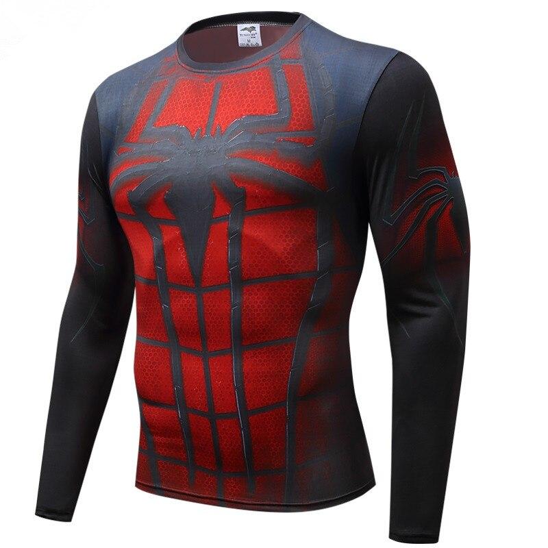 T-shirt American captain spider - Man 3 heroic winter warrior 3D print T-shirt shirt jacket fitness compression