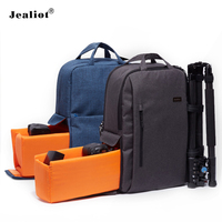 2017 Jealiot Multifunctional Camera Bag Laptop Backpack Women Men Bag Waterproof Shockproof Video Photo Bags Case