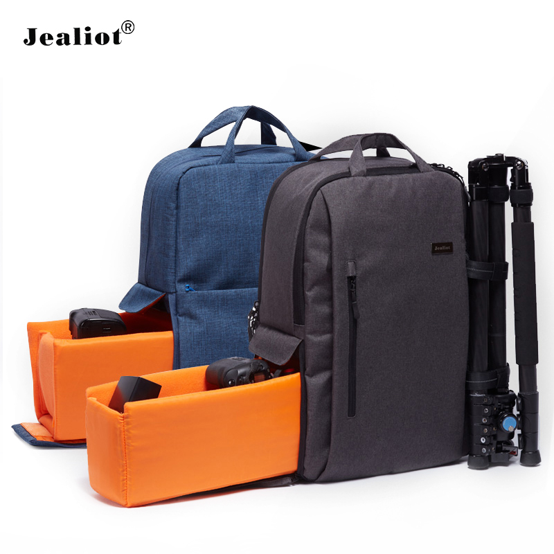 Jealiot Multifunctional Camera Bag laptop Backpack digital camera women men bag waterproof Video Photo Bags case for Canon DSLR 2017 jealiot multifunctional professional camera bag laptop backpack video photo bags waterproof shockproof case for dslr canon