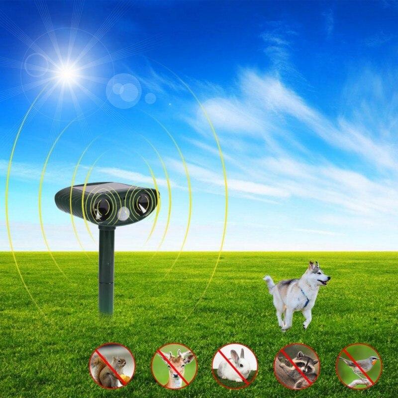 Solarbetriebene Katze Hund Ultraschall Abweisend Outdoor und Wasserdicht Tier Repeller Abschreckung Scarer Schädlingsbekämpfung Heißer