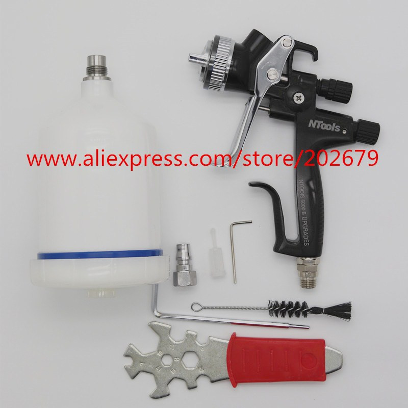 Wholesale and retail 2018 new spray gun Gravity air spray gun with 1 3mm nozzle pneumatic