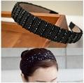 Women's wide Rhinestone Bead Crystal Headband Hair Band hoop HB-112