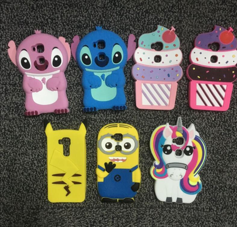 AIPUWEI 3D Cute Cartoon Summer Icecream animal unicorn soft case For Huawei G7 Plus G8 GX8 Monsters stitch Silicone Cover SHELL