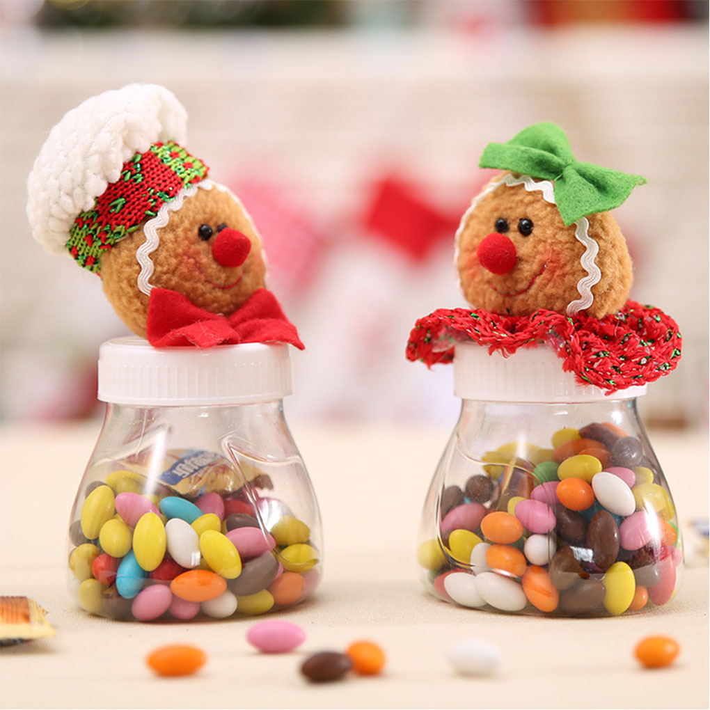 Christmas Sweets.Us 1 95 30 Off 2019 Brand New Cartoon Christmas Sweets Jar Cans Non Woven Sweets Box Sweets Gift Bags Xmas Decor In Bottles Jars Boxes From Home