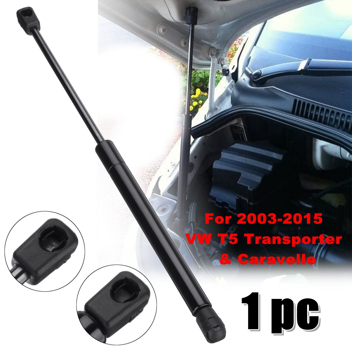 1Pc Front Bonnet Hood Support Gas Strut For VW T5 Transporter & Caravelle 2003-2015 7E0823359 for vw transporter caravelle 1990 2003 brand new 701837205 front left outer door handle mechanism with keys
