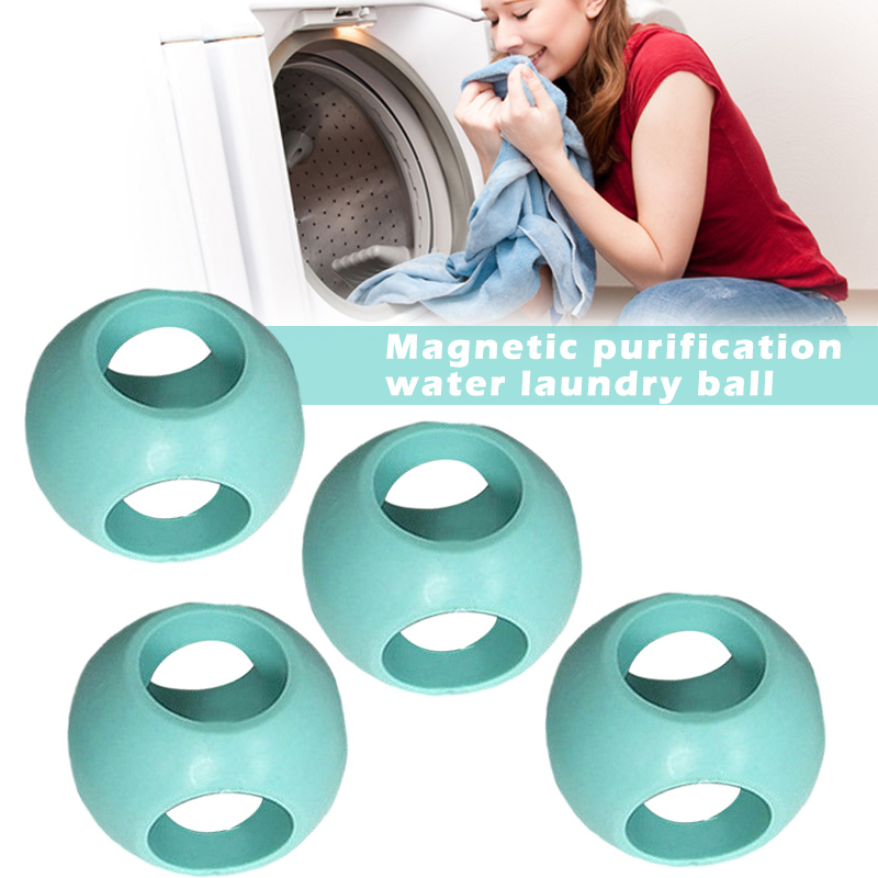 4 piezas de lavandería magnética Anti Limescale bola máquina de lavado de bolas accesorios LBShipping