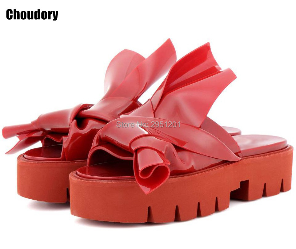 Knots Fashion Patent Leather Slides 2017 New Fashion Designer Women Casual Platform Flats Sandals Flip Flops Summer Shoes Woman wastyx new 2017 summer fashion cowboy women sandals casual women flip flops shoes wedges shoes woman