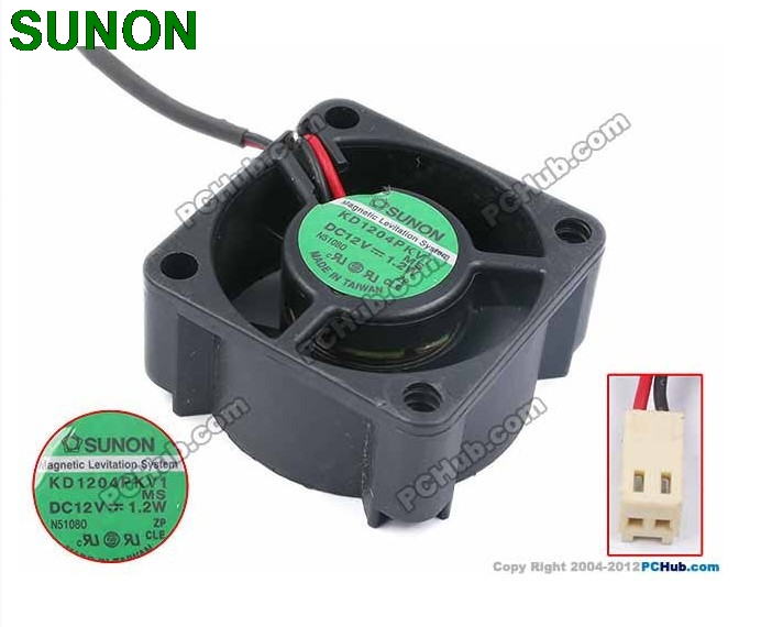 For Sunon KD1204PKV1  4CM 4020 40*40*20MM DC12V 1.2W Server Cooling Fan Server Square Fan 2-wire 40x40x20mm