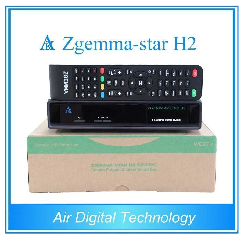 ФОТО 2pcs Zgemma-star H2 digital satellite receiver set top box combo tuner with DVB-S2+DVB-T2/C