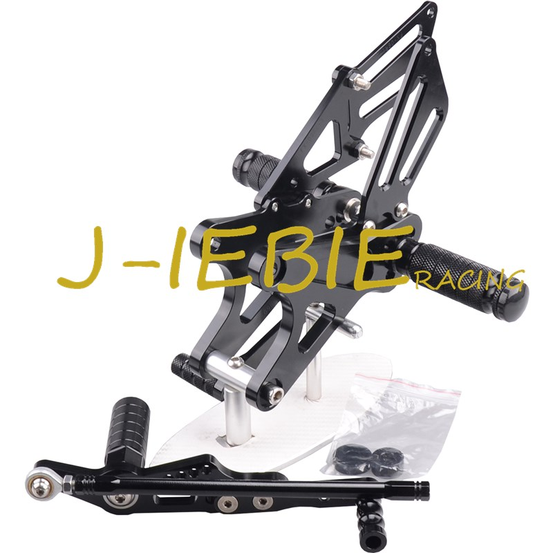 CNC Racing Rearset Adjustable Rear Sets Foot pegs Fit For Yamaha YZF R1 2009 2010 2011 2012 2013 2014 BLACK car rear trunk security shield shade cargo cover for kia sportag 2007 2008 2009 2010 2011 2012 2013 black beige