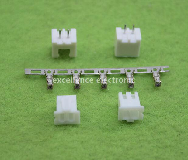 100sets/Lot 2 Pin Connector Leads Header 2.54mm XH-2P Kit Housing Pin header Terminal 200pcs 2 pin connector leads heade 2 54mm xh 2p kit