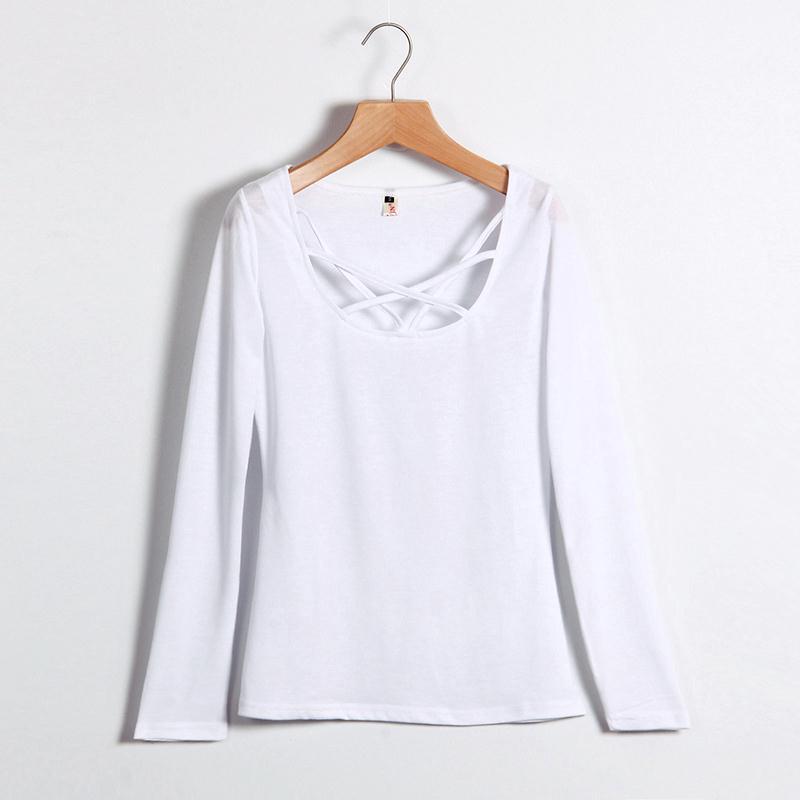 HTB1zjvtMVXXXXaCXFXXq6xXFXXXx - Autumn T Shirt Women Long Sleeve Slim Fit Solid