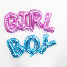 2016 new 100pcs/lot Baby boy/girl birthday letter balloons air-filled foil ballons for baby party globos