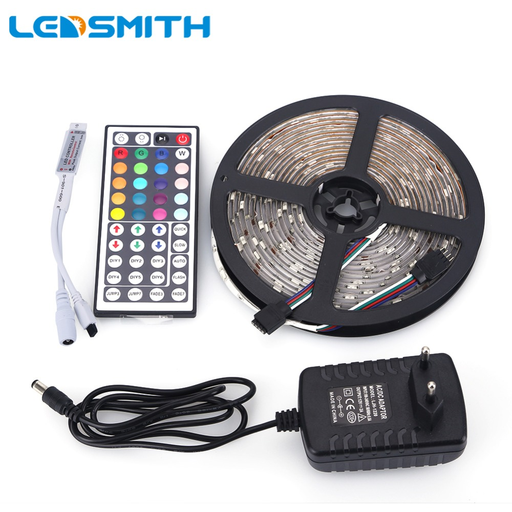 rgb led strip 5050 waterproof 5m 150leds smd 44key remote. Black Bedroom Furniture Sets. Home Design Ideas