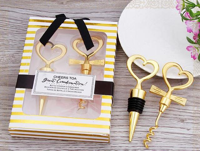 New Wedding Favors Gifts Gold Born Of A Couple Wine Opener To