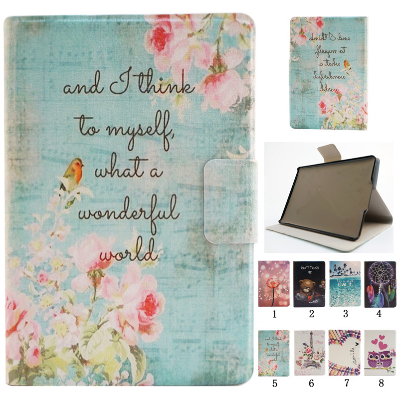 Fashion Case Flower Tower Flip PU Leather Cover Funda For Amazon Kindle Paperwhite 1 2 3 6.0'' paperwhite3 Tablet Stand Cover pu leather ebook case for kindle paperwhite paper white 1 2 3 2015 ultra slim hard shell flip cover crazy horse lines wake sleep
