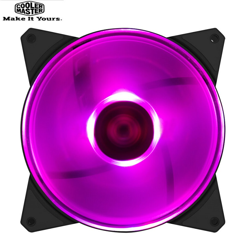 Cooler Master MF140 RGB 14cm RGB <font><b>12V</b></font>/4PIN Computer Case Quiet PWM <font><b>Fan</b></font> PC CPU Cooler Radiator Water Cooling <font><b>140mm</b></font> Replaces <font><b>Fans</b></font> image