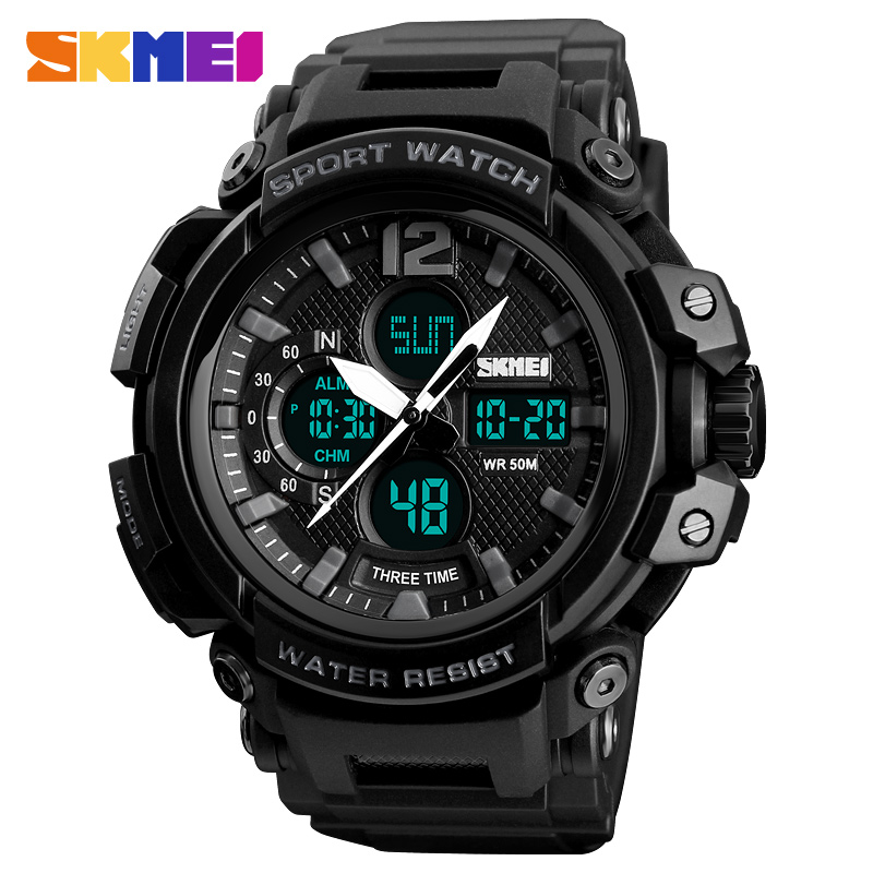 <font><b>SKMEI</b></font> Sport Watch Men's Watch Top Luxury Digital Clock 3Time Water Resistant Erkek Saat Fashion Man Watch Relogio Masculino <font><b>1343</b></font> image