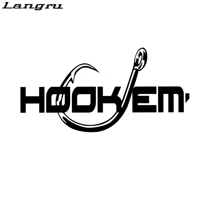 Langru Interesting Hook Em Fishing Vinyl Car Sticker Car-Styling Decal  Jdm(China)