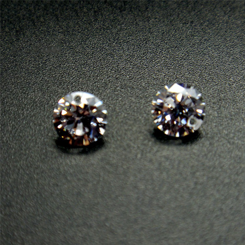 BOAKO 50Pcs Pack Single Double Holes Crystal Zirconia stones AAA Cubic Zirconia Stone loose DIY Jewerly Beads Zircon Stone Z4 in Beads from Jewelry Accessories