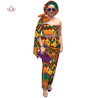Summer skirt set african dashiki women traditional bazin print plus size dashiki african dresses for women suit 2pieces WY4602