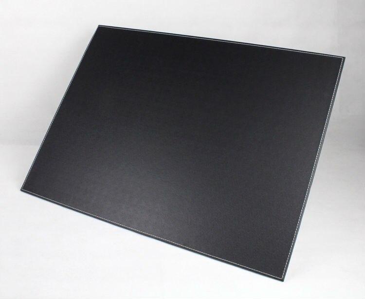 Utile rectangle en bois de bureau en cuir de bureau écriture planche à dessin pad avec papier clip brun 235A