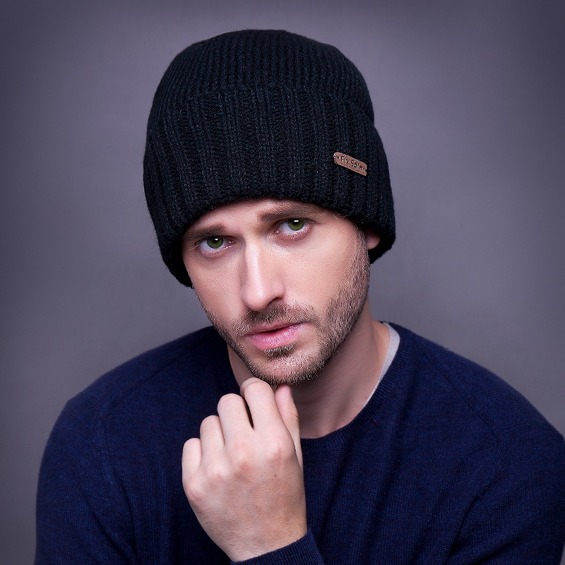 Male winter hat outdoor thermal knitted Beanies winter hat knitted male sports bag winte ...