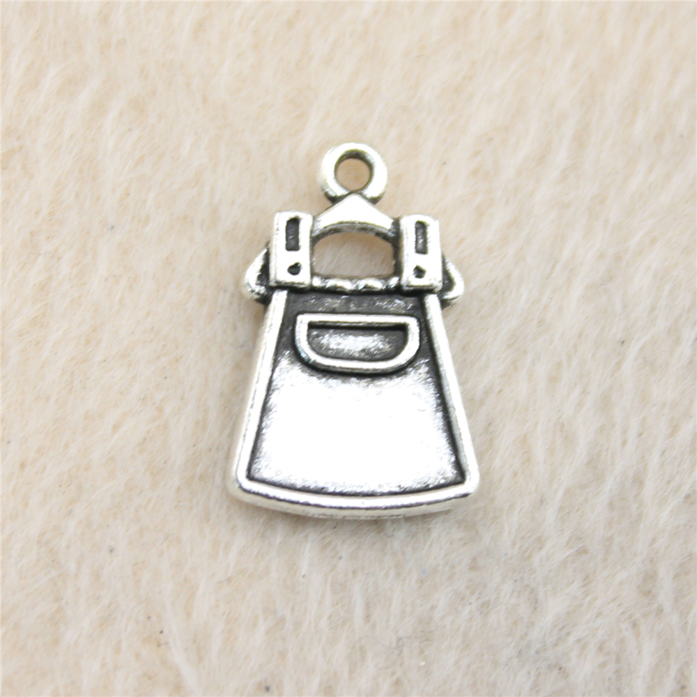 2ab2ebe47d20 20 unids 11 18mm color plata antigua Correa encanto colgante para pulsera  collar joyería Accesorios hacer a mano DIY