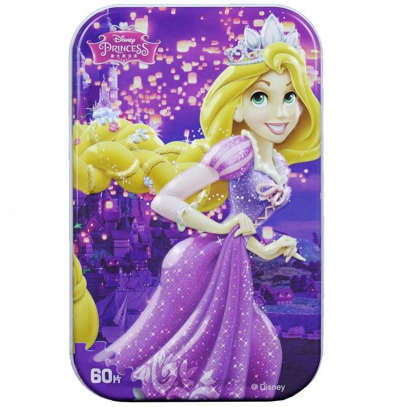 Disney мультфильм Пазлы 2018 новые подарки 60 длинные волосы Олово пазл для детей возрастом от 3 до 6 лет Детские Логические игрушки 2503