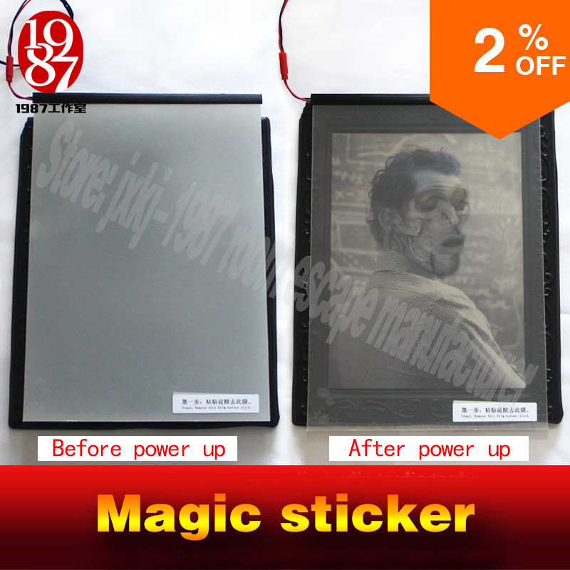 Real Life Room Escape Prop Magic Sticker  Adventure Props Power Up Amazing Sticker To See Hidden Clues  Chamber Game Props