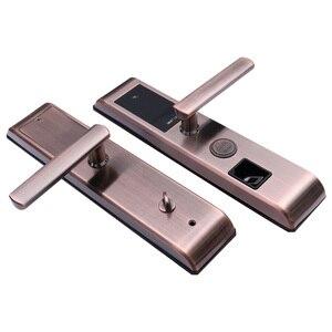 Image 3 - 無線 lan 指紋ドアロック盗難防止ドアロックスマートロックデジタルパスワード rfid アプリによるロック解除、コード、カード、キー