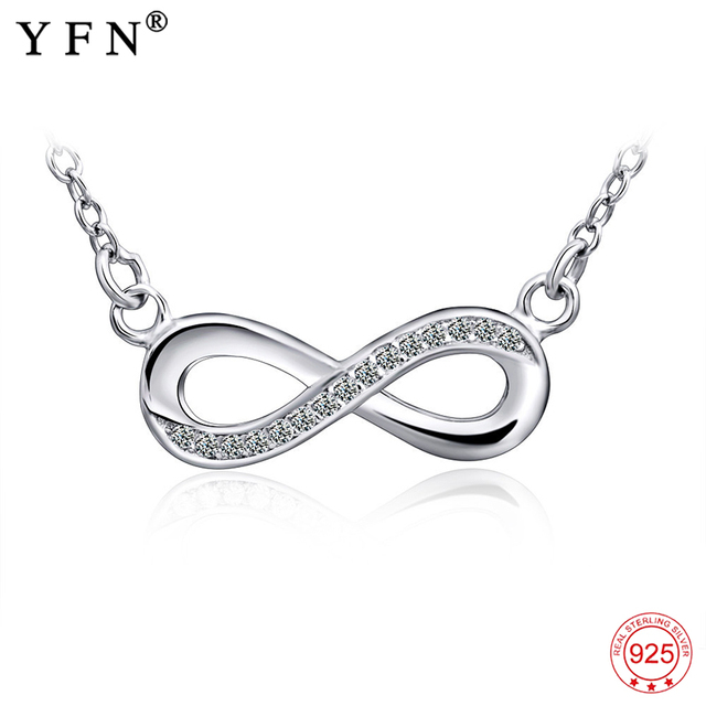 925 sterling silver necklace women infinity love pendants necklaces 925 sterling silver necklace women infinity love pendants necklaces women jewelry cz crystal bowknot collares gifts aloadofball Image collections