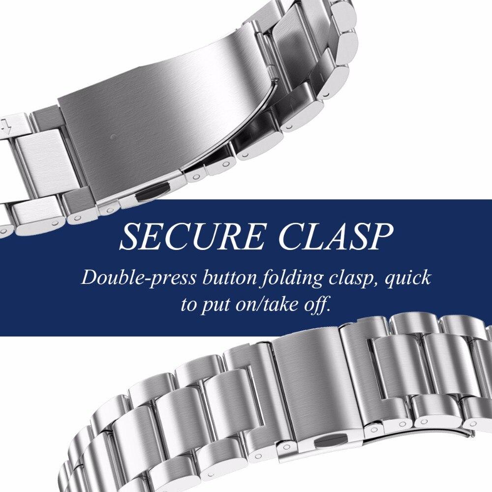 Correa de metal de acero inoxidable de 22 mm de ancho para Garmin - Accesorios para relojes - foto 2