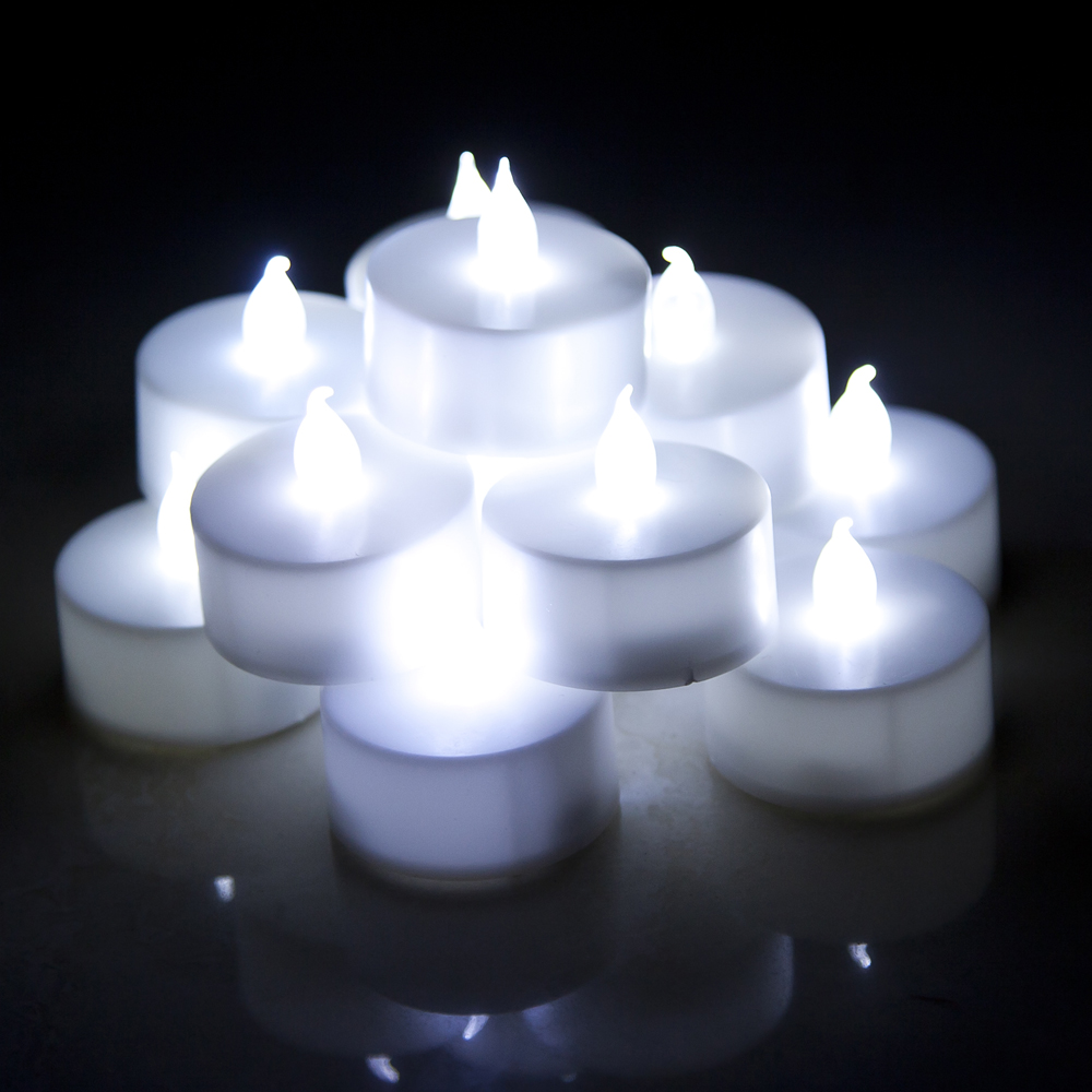 led candles flameless white led candles electronic candle tea light for wedding party decoration. Black Bedroom Furniture Sets. Home Design Ideas