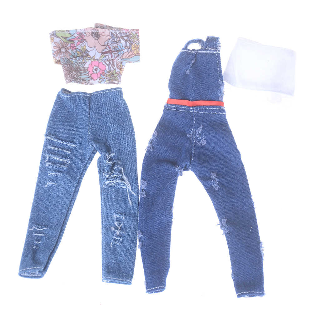 בובה בעבודת יד בגדי אביזרי אופנה רחוב סגנון פוליאסטר כותנה חולצה חור ג 'ינס צעצועי מתנה